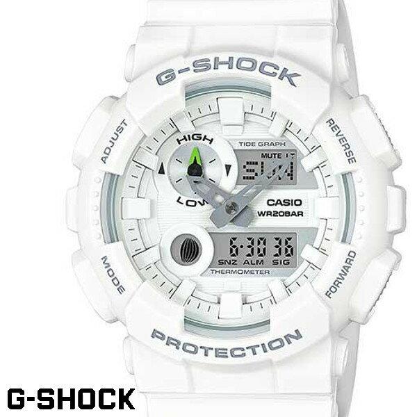 G-SHOCK CASIO 腕時計 メンズ GAX-100A-7A デジアナ デジタル アナログ BIG FACE ブランド うでどけい クロノグラフ G−SHOCK ホワイト 白 Gライド G-LIDE