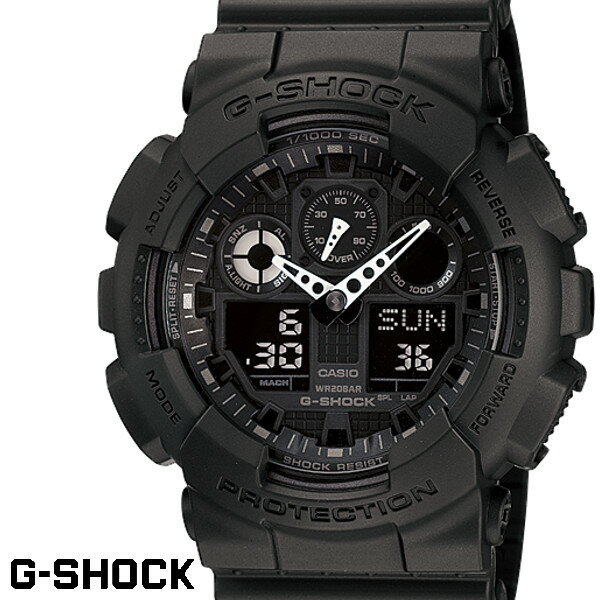CASIO GA-100-1A1 G-SHOCK Gショック ブラック 黒 デジアナ 腕時計 うでどけい メンズ g−shock