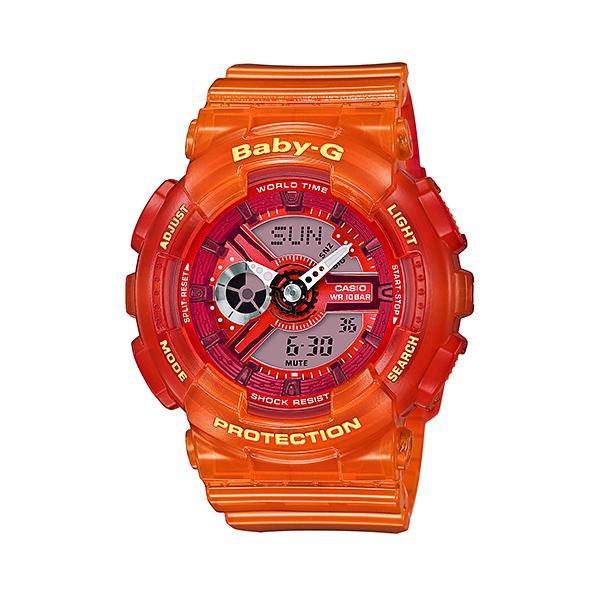 CASIO/BABY-G/カシオ ベビーG Jelly Marine ジェリーマリンシリーズ カシオ CASIO アナデジ 腕時計 スケルトン レッド オレンジ BA-110JM-4AJF