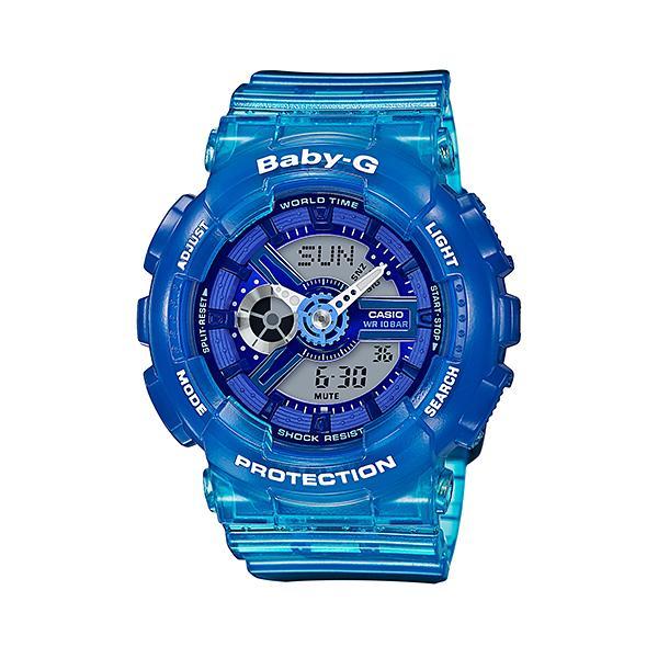 CASIO/BABY-G/カシオ ベビーG Jelly Marine ジェリーマリンシリーズ アナデジ 腕時計 スケルトン ブルー 青 BA-110JM-2AJF