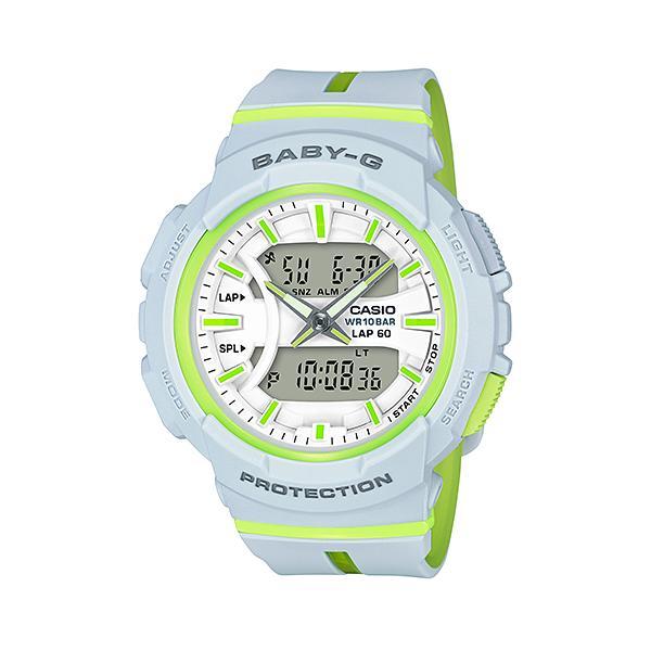 CASIO/BABY-G/カシオ ベビーG カシオ 白 ホワイト ライムグリーンランニング ジョギング BGA-240L-7AJF