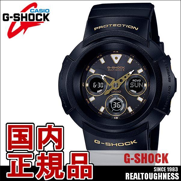 CASIO G-SHOCK ジーショック メンズ 腕時計 AWG-M510SBG-1AJF 黒 ブラック×ゴールド タフソーラー
