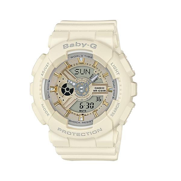 CASIO/BABY-G/カシオ ベビーG アナデジ クオーツ 腕時計 うでどけい レディース LADIE'S ベージュ BA-110GA-7A2