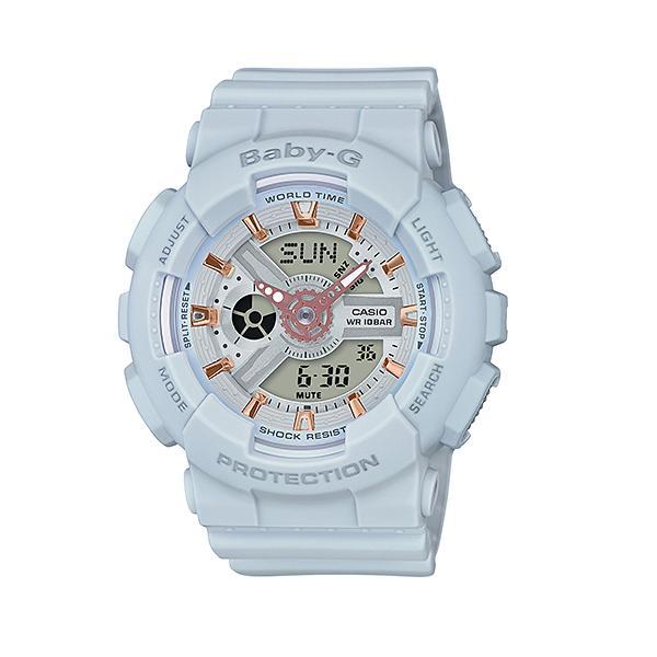 CASIO/BABY-G/カシオ ベビーG アナデジ クオーツ 腕時計 うでどけい レディース LADIE'S ライトグレー BA-110GA-8A
