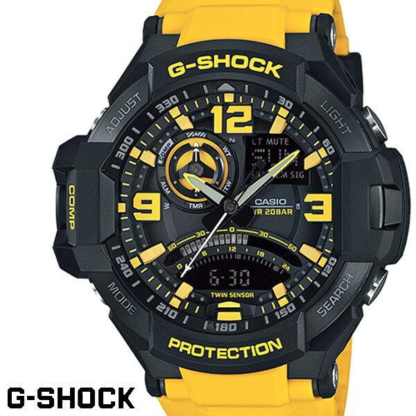 CASIO G-SHOCK ジーショック メンズ 腕時計 GA-1000-9B イエロー ブラック SKYCOCKPIT スカイコックピット