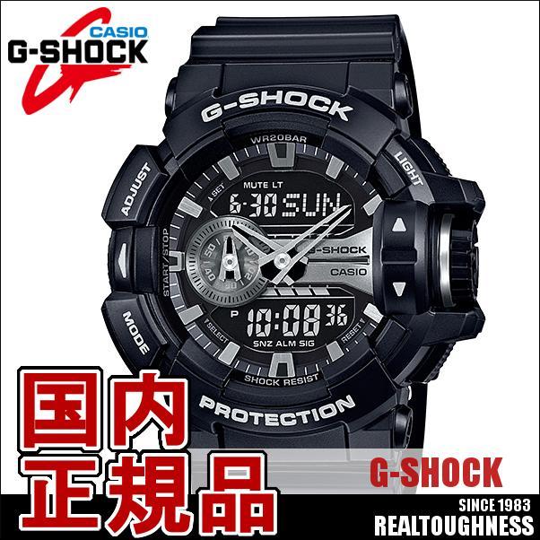 CASIO G-SHOCK ジーショック メンズ 腕時計 GA-400GB-1AJF ロータリースイッチ ブラック 黒 GA-400シリーズ アナデジ