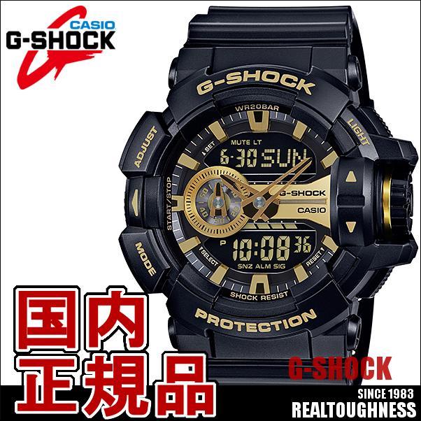 CASIO G-SHOCK ジーショック メンズ 腕時計 GA-400GB-1A9JF ロータリースイッチ ブラック 黒 GA-400シリーズ アナデジ