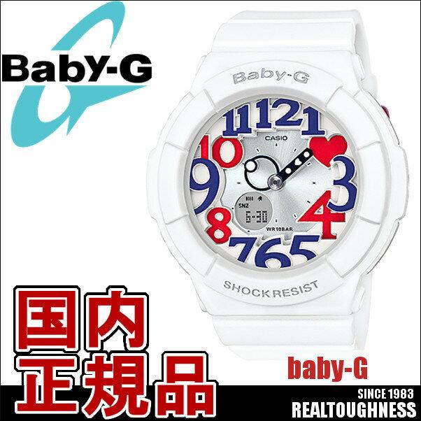 CASIO/BABY-G/カシオ ベビーG 電波ソーラー ソーラー電波 腕時計 うでどけい レディース LADIE'S ホワイト 白 BGA-130TR-7BJF