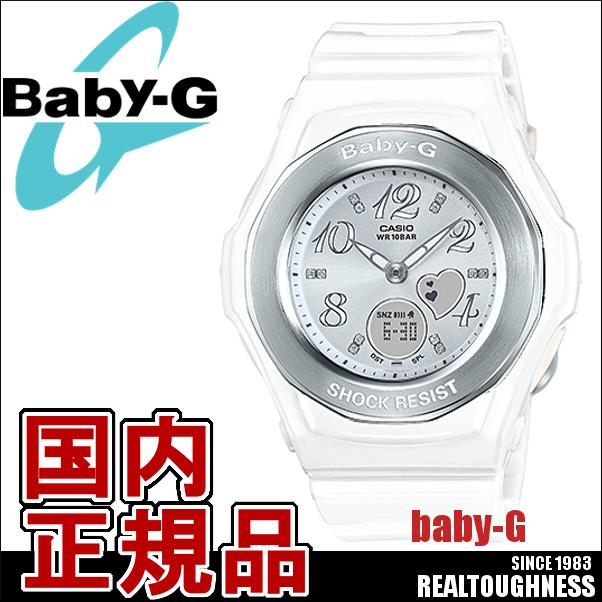 CASIO/BABY-G/カシオ ベビーG ジェミーダイアル 腕時計 うでどけい レディース LADIE'S ホワイト 白 BGA-100-7B3JF