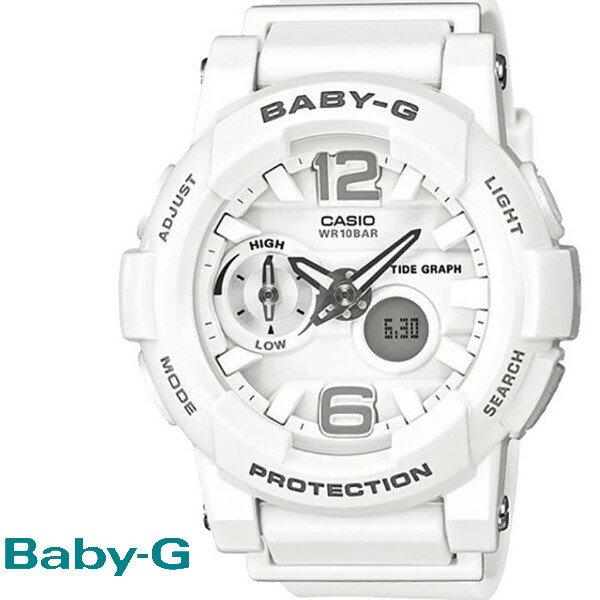CASIO/BABY-G/カシオ ベビーG G-LIDE Gライド 腕時計 うでどけい レディース LADIE'S ホワイト BGA-180-7B1