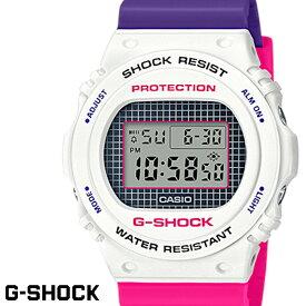 【送料無料 あす楽対応】G-SHOCK ジーショック 腕時計 並行輸入品 メンズ men's レディース Ladies デジタル DW-5700THB-7 ホワイト ピンク パープル