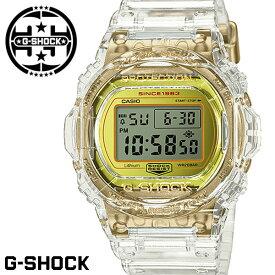 G-SHOCK Gショック ジーショック 限定モデル 腕時計 メンズ DW-5735E-7 35周年記念モデル グレイシアゴールド クリアスケルトン