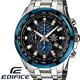 CASIO EDIFICE カシオ エディフィス 腕時計 エディフィス メンズ 腕時計 クロノグラフ ステンレス 海外モデル ブラック ブルー