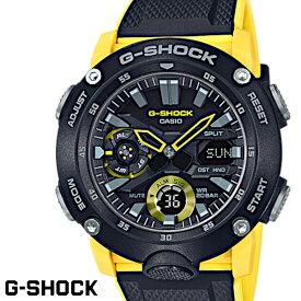 【マラソン期間中全商品ポイント2倍!!】CASIO G-SHOCK ジーショック メンズ 腕時計 GA-2000-1A9 カーボンコアガード構造 イエロー ブラック