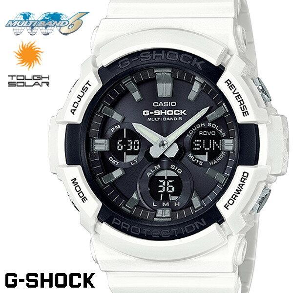 CASIO G-SHOCK 電波ソーラー GAW-100B-7A Gショック アナログ デジタル 腕時計 メンズ ブラック ホワイト 電波 ソーラー カシオ