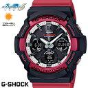 CASIO G-SHOCK 電波ソーラー GAW-100RB-1A Gショック アナログ デジタル 腕時計 メンズ ブラック レッド 電波 ソーラ…