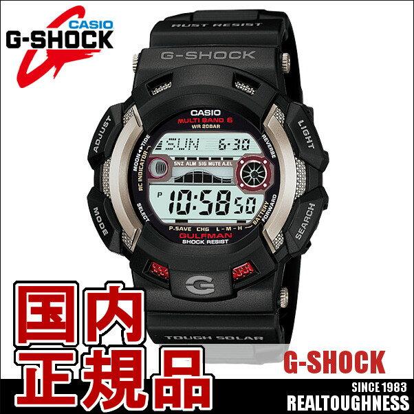 CASIO G-SHOCK ジーショック メンズ 腕時計 GW-9110-1JF 電波ソーラー GULFMAN ガルフマン ブラック