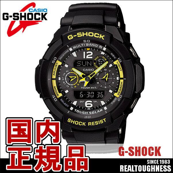 CASIO G-SHOCK ジーショック メンズ 腕時計 GW-3500B-1AJF 電波ソーラー スカイコックピット アナデジ ブラック イエロー