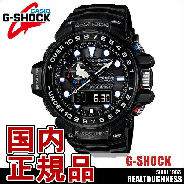 CASIO G-SHOCK ジーショック メンズ 腕時計 GWN-1000B-1AJF GULFMASTER ガルフマスター 電波ソーラー ブラック