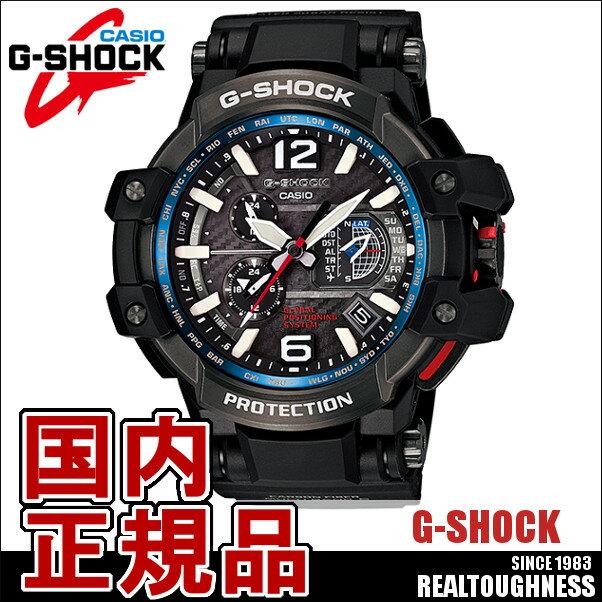 CASIO G-SHOCK ジーショック メンズ 腕時計 GPW-1000-1AJF GPSハイブリット電波ソーラー SKYCOCKPIT スカイコックピット ブラック