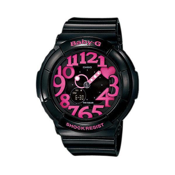 CASIO BABY-G カシオ ベビーG ネオンダイアルシリーズ 腕時計 うでどけい レディース LADIE'S ブラック ピンク BGA-130-1B