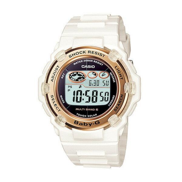 CASIO/BABY-G/カシオ ベビーG リーフ 電波ソーラー 腕時計 うでどけい レディース LADIE'S ホワイト BGR-3003-7AJF