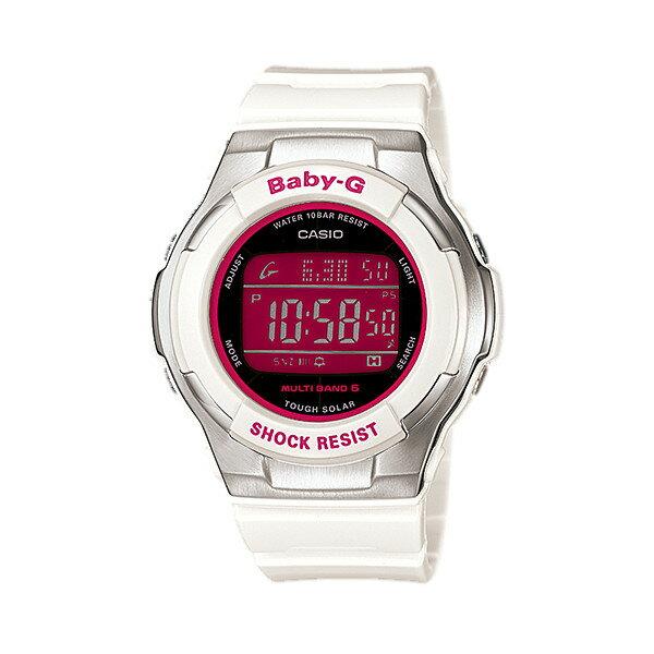 CASIO/BABY-G/カシオ ベビーG 電波ソーラー 腕時計 うでどけい レディース LADIE'S ホワイト ピンク BGD-1300-7JF