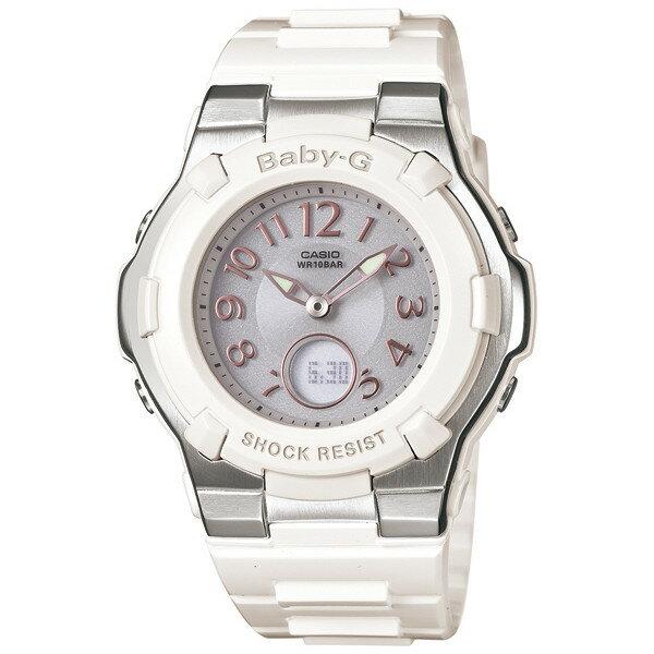 CASIO/BABY-G/カシオ ベビーG 電波ソーラー ソーラー電波 腕時計 うでどけい レディース LADIE'S ホワイト BGA-1100-7BJF