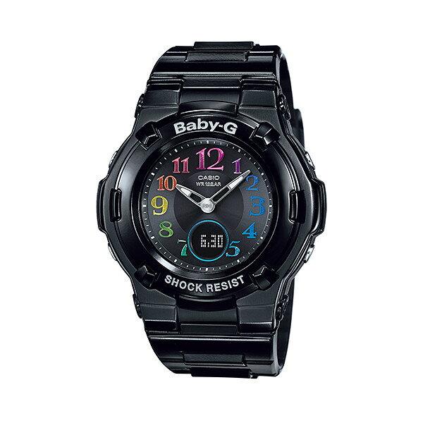 CASIO/BABY-G/カシオ ベビーG 電波ソーラー ソーラー電波 腕時計 うでどけい レディース LADIE'S ブラック BGA-1110GR-1BJF