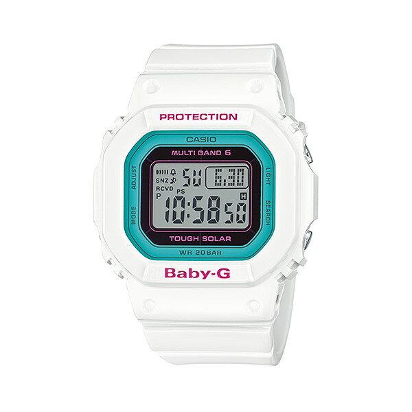 CASIO/BABY-G/カシオ ベビーG Tripper トリッパー 電波ソーラー ソーラー電波 腕時計 うでどけい レディース LADIE'S ホワイト グリーン BGD-5000-7BJF