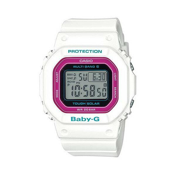 CASIO/BABY-G/カシオ ベビーG Tripper トリッパー 電波ソーラー ソーラー電波 腕時計 うでどけい レディース LADIE'S ホワイト ピンク BGD-5000-7CJF