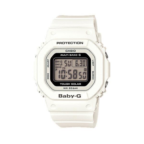 CASIO/BABY-G/カシオ ベビーG Tripper トリッパー 電波ソーラー ソーラー電波 腕時計 うでどけい レディース LADIE'S ホワイト ブラック BGD-5000-7JF