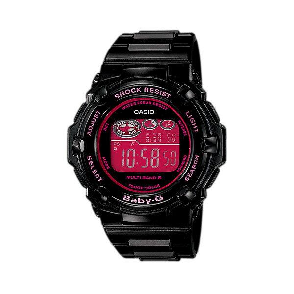 CASIO/BABY-G/カシオ ベビーG Trepper トリッパー 電波ソーラー ソーラー電波 腕時計 うでどけい レディース LADIE'S ブラック ピンク BGR-3003-1BJF