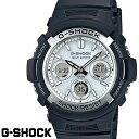 CASIO G-SHOCK ジーショック メンズ 腕時計 AWG-M100S-7A スタンダードモデル 電波ソーラー ブラック ホワイト