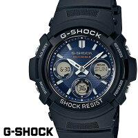 CASIOG-SHOCKジーショック電波ソーラー黒ブラックデジタルアナログブランドメンズ腕時計AWG-M100SB-2AG−SHOCK