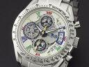腕時計 メンズ サルバトーレマーラ SALVATORE MARRA SM13108-SSWHCL シルバー ホワイト マルチカラー クロノグラフ
