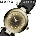 【エントリーでポイント最大11倍♪ 11日01:59まで】【送料無料/あす楽】MARC JACOBS マークジェイコブス 腕時計 レディース レザー ブラック ゴールド MJ1467
