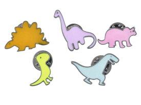 アニメチックな可愛い恐竜ピンバッチ5個セット 天然石ジュエリーのお店 ハッピーエイト