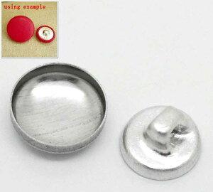 12mmアルミくるみボタン素材・約300個・押し具なし@6円!