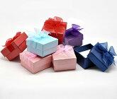 指輪やピアスのプレゼントに★四角いペーパーリングケース/ギフトボックス24個セット