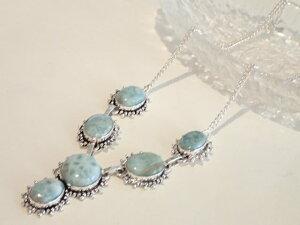 ラリマー デザイン ネックレス 真ん丸 ブルー 青 天然石ジュエリーのお店 おしゃれ ネックレス ペンダント プレゼントにもおすすめ♪ ハッピーエイト