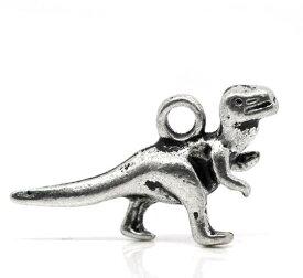 恐竜ティラノサウルス22x12mmチャーム約50個@16円 天然石ジュエリーのお店 ハッピーエイト