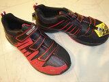 ★ンロップ幅広安全靴マグナムST-302レッドEEEE。