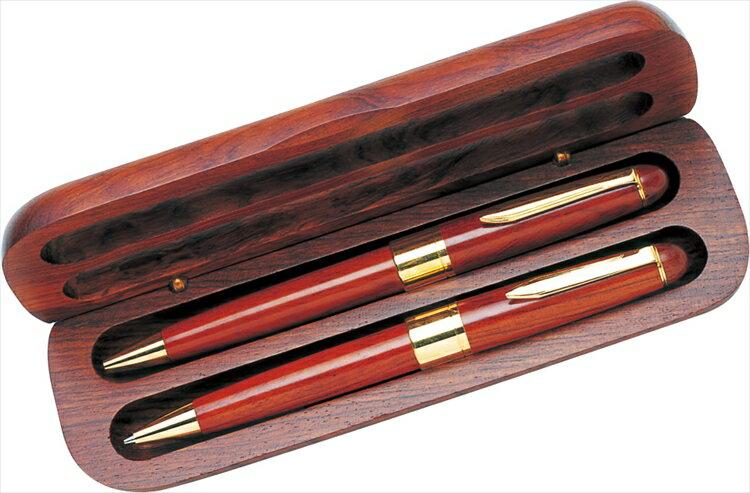 木軸ロイヤルケースセット Q-1446W【 筆記用具 筆記具 ステーショナリー ケース入り 高級 ウッド 】