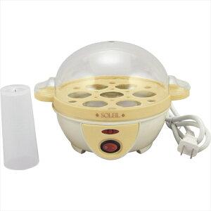 ソレイユ 電気たまごゆで器 SL-25【ゆで卵器 メーカー 玉子 卵 半熟 7個 お弁当 ランチ お昼ごはん】[tr]