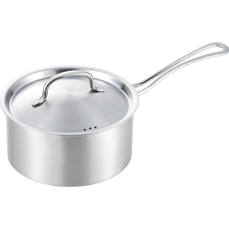 【送料無料】 郷技 片手鍋 18cm YJ2111 【ステンレス IH対応 キッチン用品 調理器具 鍋 便利 かっこいい 料理】