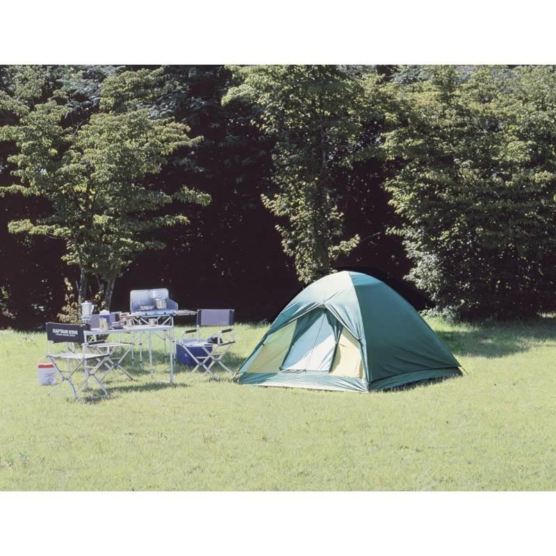 【送料無料】 クレセント ドームテント〈3人用〉 M-3105 【キャンプ ぼうすい 防水 撥水 収納バッグ 軽い 三人用 持ち運び 緑 みどり アウトドア】