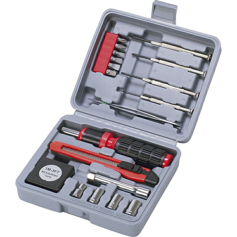 ホリデーツールセット101 36-101【アウトドア 工具セット 工具箱 diy コンパクト 工具】