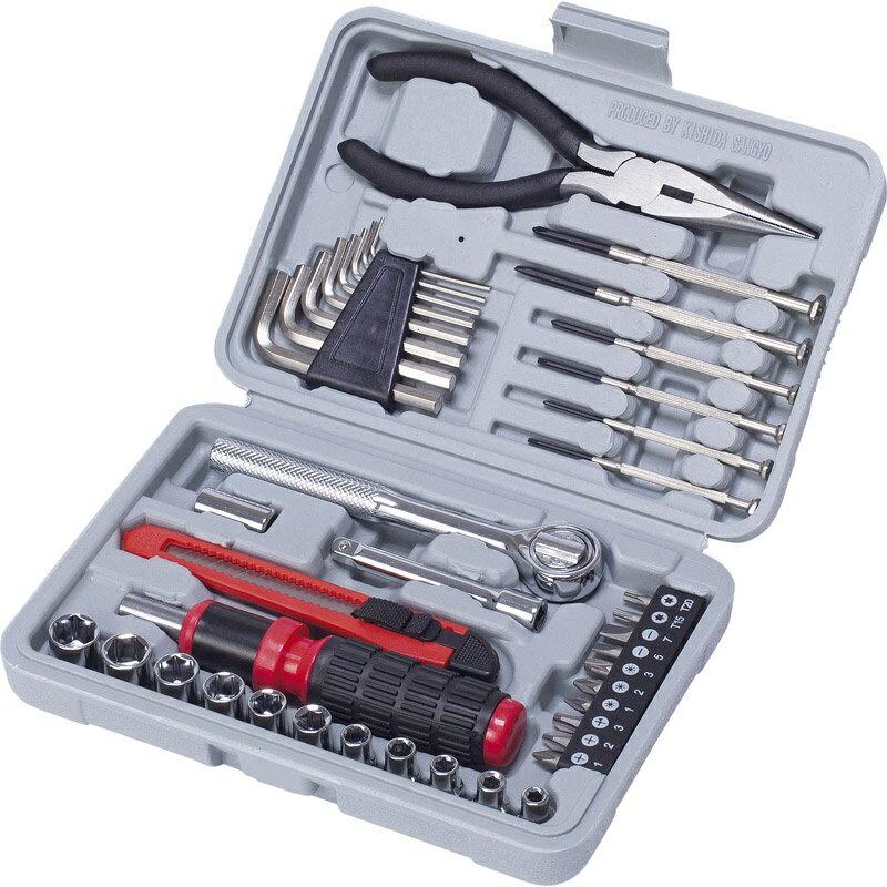 ホリデーツールセット309 36-309【アウトドア 工具セット 工具箱 diy 工具】