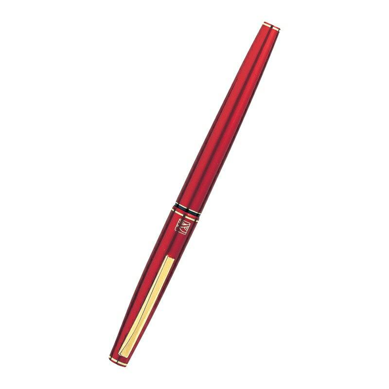 くれ竹 万年毛筆(13号) 赤軸 DT141-13C【毛筆 毛筆ペン 筆 筆ペン おしゃれ 黒13号】